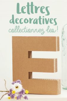 lettres decoratives