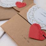 Invitaciones de boda hechas a mano…