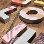 Letras de cartón decoradas en el Generator Barcelona