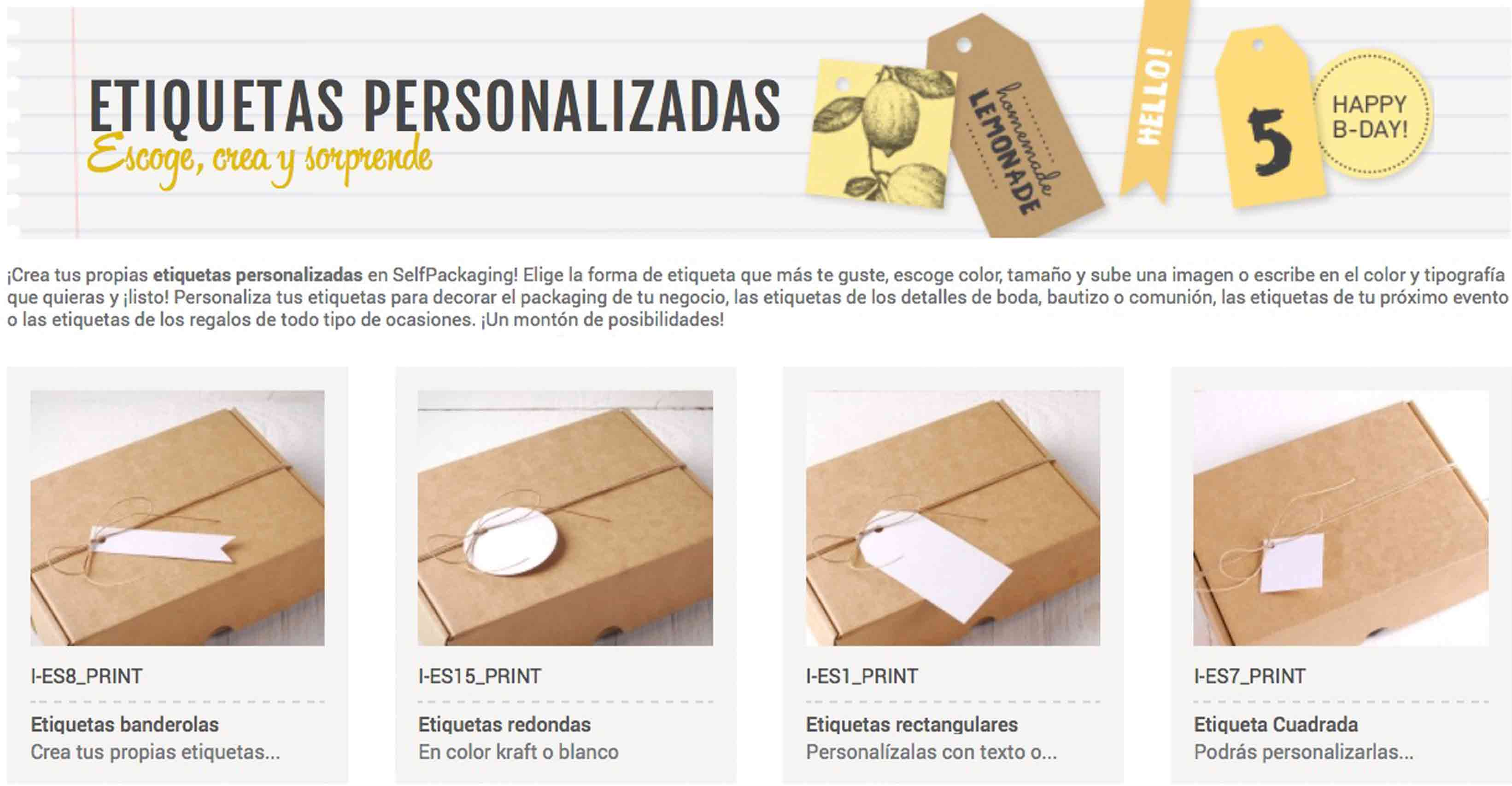 SelfPackaging - Etiquetas Babyshower - PASO - 01
