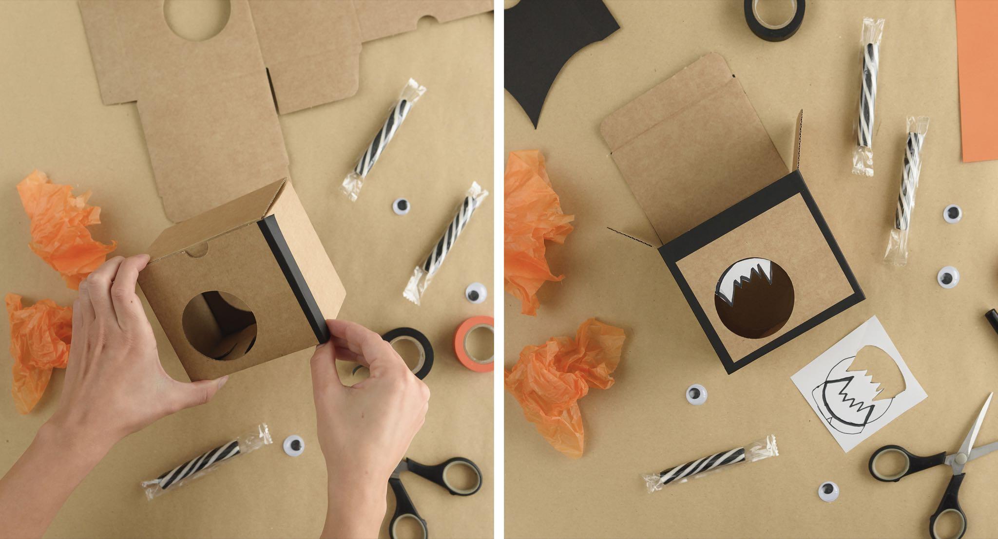 SelfPackaging - Halloween - caja muercielago - Paso 01-02
