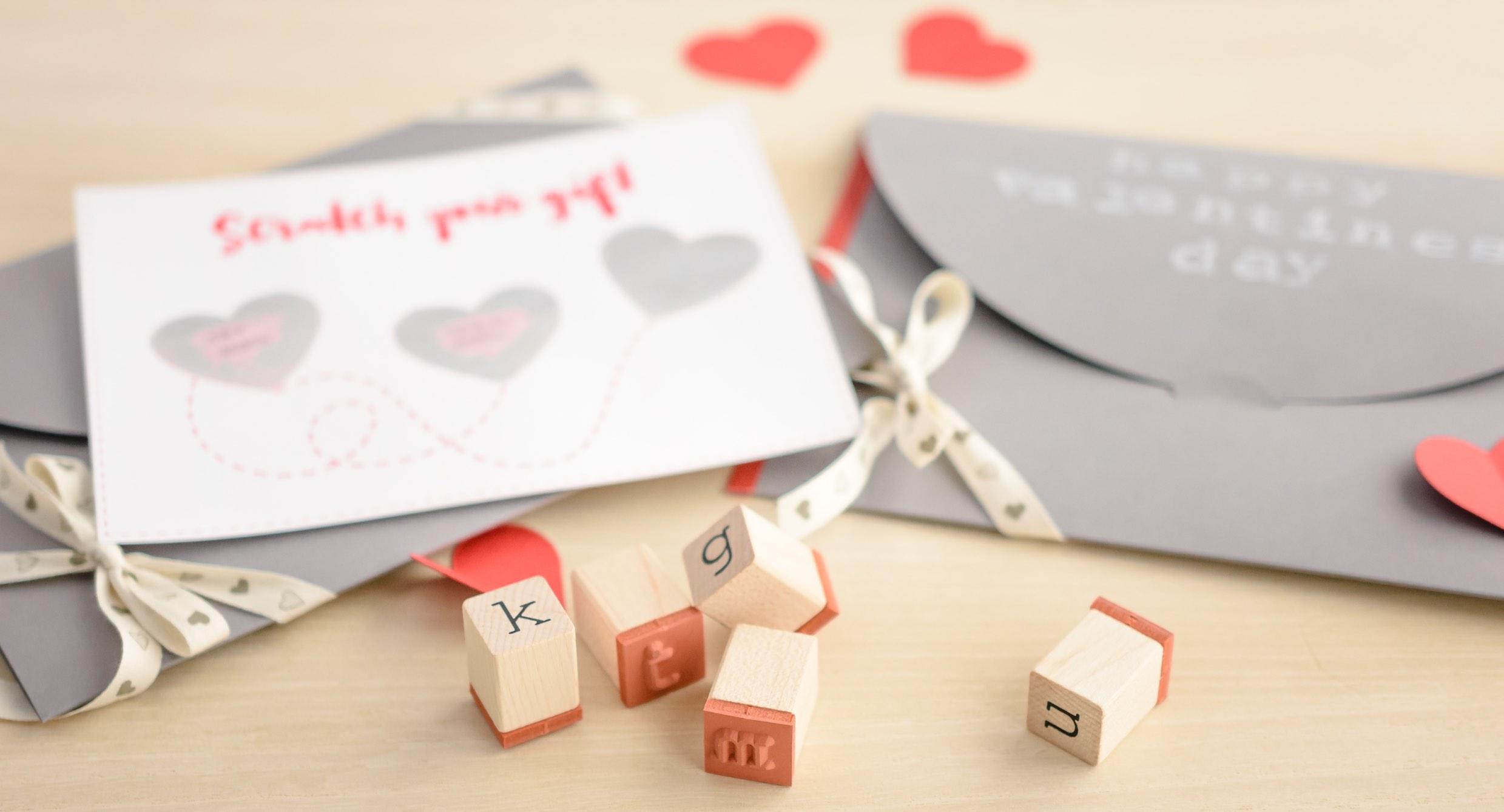 Tarjeta de San Valentín rasca