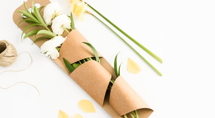 caja para flores y rosas