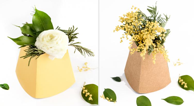 cajas para flores florero