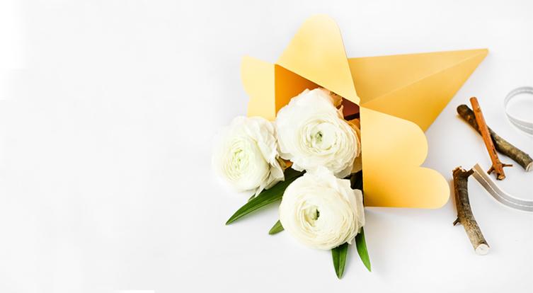 cajas para flores cucurucho