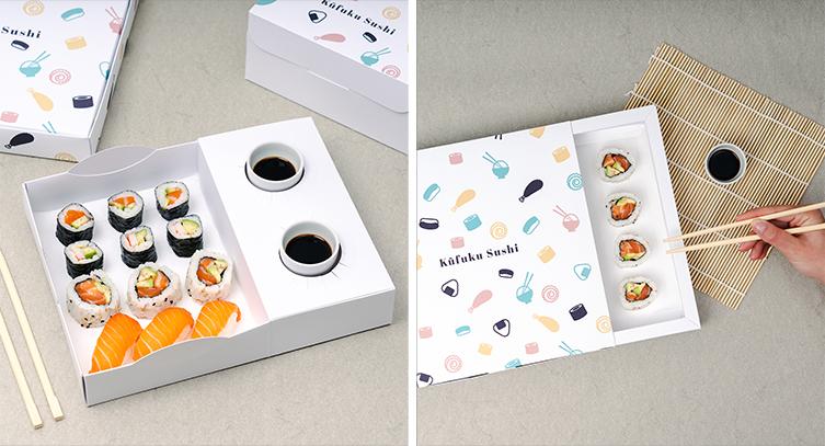 Caja diseñada para alimentación oriental