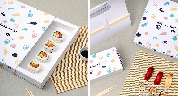 Un diseño atractivo es importante a la hora de diseñar cajas para sushi.