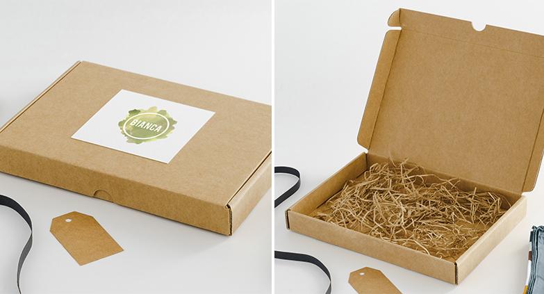 Caja automontable para Ecommerce