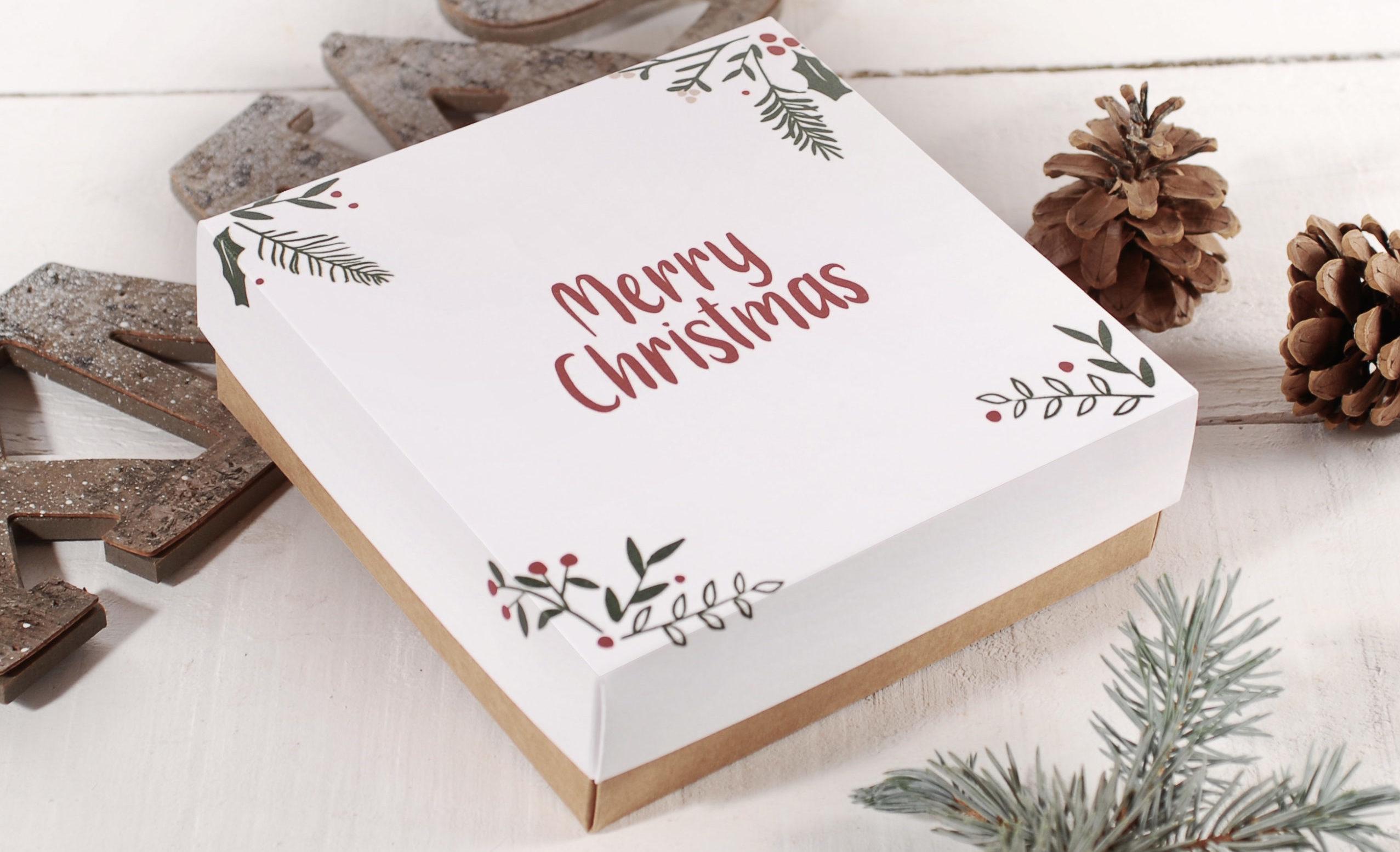 cajas de carton para Navidad